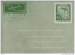 Airletter Unused With 6 Annas Postal Impression  (green) - Pakistan