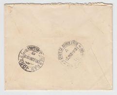 """URUGUAY """"ESTAFETA AMBULANTE"""" RAILROAD Cancel On Cover 1913 - Uruguay"""