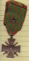 (2)  Médailles Militaire Croix De La Guerre 14/18 (14 17) - Francia