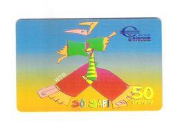 "PHONECARD CHIP CABO VERDE  CV15 ""SÓ SABI 1999"" 150U -  USED - Portugal"
