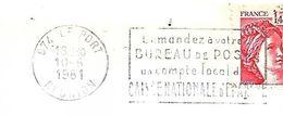 REUNION  97  LE PORT  Demandez à Votre Bureau De Poste Un Compte Local De Caisse Nationale D'épar Ne  10/06/81 - Reunion Island (1852-1975)