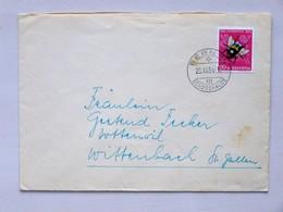 SUISSE / SCHWEIZ / SWITZERLAND // 1954, Lettre - Brief, 20Rp. PRO JUVENTUTE 1954, Hummel / Bourdon Terrestre, BERN => WI - Pro Juventute