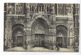 CPA Rouen La Cathédrale De Rouen Les Trois Portails De La Façade - Rouen