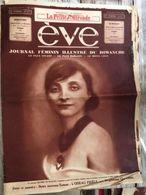 Eve Journal Feminin Mode Actualite Publicites La Comtesse Mathieu De Noailles 14 Mai 1933 - Journaux - Quotidiens