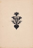 Orig. Scherenschnitt - Blumen - 1948 (32590) - Scherenschnitte