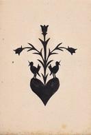 Orig. Scherenschnitt - Blumen Vögel - 1948 (32591) - Scherenschnitte
