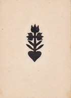 Orig. Scherenschnitt - Blume - 1948 (32592) - Papier Chinois