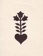 Orig. Scherenschnitt - Blume - 1948 (32593) - Chinese Paper Cut
