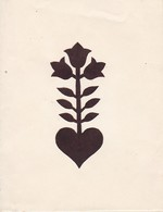 Orig. Scherenschnitt - Blume - 1948 (32593) - Papier Chinois