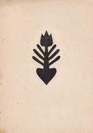 Orig. Scherenschnitt - Blume - 1948 (32594) - Chinese Paper Cut