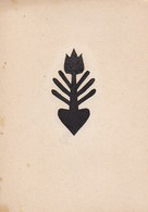 Orig. Scherenschnitt - Blume - 1948 (32594) - Papier Chinois