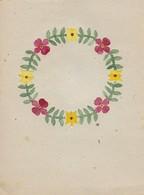 Orig. Scherenschnitt - Blumenkranz - 1948 (32595) - Scherenschnitte