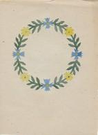Orig. Scherenschnitt - Blumenkranz - 1948 (32596) - Papier Chinois