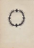 Orig. Scherenschnitt - Blumenkranz - 1948 (32599) - Scherenschnitte