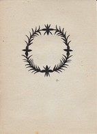 Orig. Scherenschnitt - Blumenkranz - 1948 (32599) - Papier Chinois