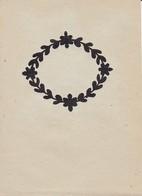 Orig. Scherenschnitt - Blumenkranz - 1948 (32600) - Scherenschnitte