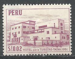 Peru 1953. Scott #457 (M) Tourist Hotel, Tacna - Pérou