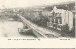 SPA. -  Le Lac De Warfaz Et La Route De Tiège.  (scan Verso) - Spa