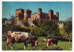 Italie -- Vallée D'Aoste --Chateau De FENIS  14ème Siècle  (vaches Au 1er Plan ) - Italia