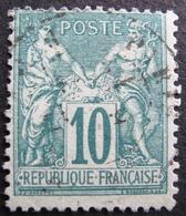 Lot FD/141 - SAGE Type II N°76 ☛ Timbre Signé Calves Expert - CàD De PARIS - Cote : 325,00 € - 1876-1898 Sage (Type II)