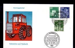 1975 W.Germany / Bund - Industrie & Technik - Freimarken/ Standart Issue - FDC 3 -Bonn- Agriculture -Traktor, Factor - Landwirtschaft
