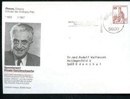 Bund PU250 B1/007-6 Privat-Umschlag GREGORY PINCUS ANTIBABY-PILLE Wuppertal1982 - [7] Federal Republic