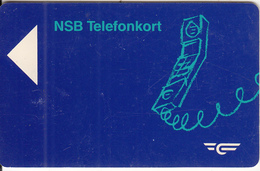 NORWAY - Telephone, NSB Satellite Magnetic Telecard Kr.20(for Use In Train), Tirage 50000, Used - Norway