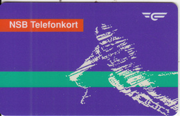 NORWAY - Skier, NSB Satellite Magnetic Telecard Kr.20(for Use In Train), Tirage 50427, 02/93, Used - Norway