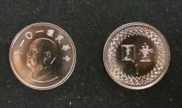 2012 Taiwan NT$1.00 Chiang Kai-shek CKS - Taiwan