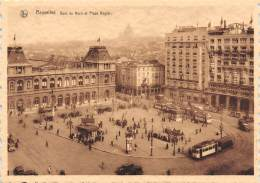 CPM - BRUXELLES - Gare Du Nord Et Place Rogier - Chemins De Fer, Gares