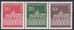 BERLIN - 1966 - Lotto 3 Valori Nuovi MNH Se-tenant: Yvert 257/259. - [5] Berlin