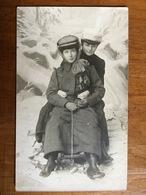(carte-photo, Sports D'hiver) Lugeuses à Annaberg. Photo Signée, 1910, SUP. - Autres Photographes