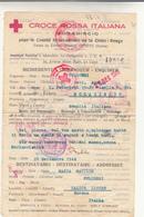 Mogadiscio Per Calice Ligure, Messaggio Con Risposta Al Retro Tramite Croce Rossa Italiana 28 Settembre 1944 - Militares