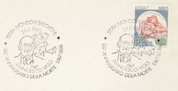 1986 Italy FRANCESCO VIGO Italian American REVOLUTIONARY PATRIOT EVENT COVER Card Mondovi Breo Stamps  Usa Independence - Us Independence