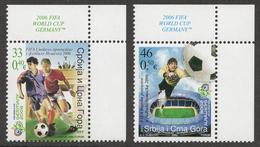 Yugoslavia 2006 Soccer Football FIFA World Cup Sport Germany Deutschland, Set MNH - 2006 – Germany