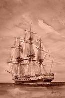 CP Inédite - Carte-Postale De Navire Marine  - Frégate - L'HERMIONE - Guerre