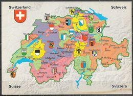 Switzerland, Map, Unused - Switzerland