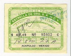 Ticket * Mexico * Acapulco - Mexico * Estrella De Oro, S.A. De C.V. - Bus