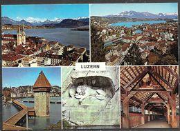 Switzerland, Luzern (Lucerne), Multiview, Unused - LU Lucerne