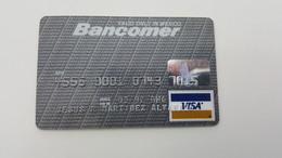 MEXICO - CREDIT  CARD - VISA - BANCOMER BANK - 1992 - Geldkarten (Ablauf Min. 10 Jahre)