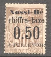 Nossi-Bé  Surcharge «chiffre-taxe 0.50 à Percevoir» Sur Alphée Dubois 30 Cent. STaxe #3 Signé - Nossi-Be (1889-1901)