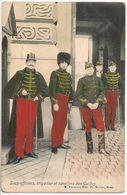 Braine-le-Comte 1908 MAI 15 Timbre 1c_SOUS-Officiers, Brigadier Et Cavaliers Des Guides (verso) Couturière à REBECQ_CPA - Braine-le-Comte