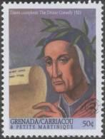 Dante Completes The Divine Comedy / Commedia By Dante, Epic Poem, Allegory, Italian Literature MNH, Grenada / Carriacou - Grenada (1974-...)