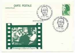 Entier Repiqué - 1,90 Liberté - Le Petit Monde De Marcel Pagnol - Aubagne - 1987 - Entiers Postaux