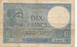 H18 - Billet - 10 FRANCS MINERVE 1917 - 1871-1952 Antichi Franchi Circolanti Nel XX Secolo