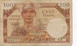 H18 - Billet - 100 FRANCS  - TRÉSOR FRANÇAIS - TERRITOIRES OCCUPÉS - Treasury