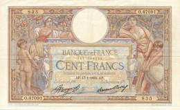 H18 - Billet - 100 FRANCS  - Luc Olivier-Merson - 1935 - 1871-1952 Antiguos Francos Circulantes En El XX Siglo