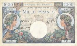 H18 - Billet - 1000 FRANCS  - COMMERCE ET INDUSTRIE - 1871-1952 Gedurende De XXste In Omloop