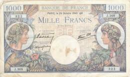 H18 - Billet - 1000 FRANCS  - COMMERCE ET INDUSTRIE - 1871-1952 Anciens Francs Circulés Au XXème
