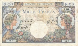 H18 - Billet - 1000 FRANCS  - COMMERCE ET INDUSTRIE - 1871-1952 Circulated During XXth